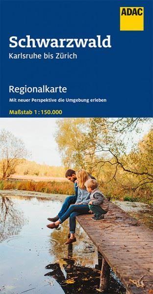 Bl. 14 Schwarzwald Regionalkarte 1:150.000, ADAC Straßenkarte