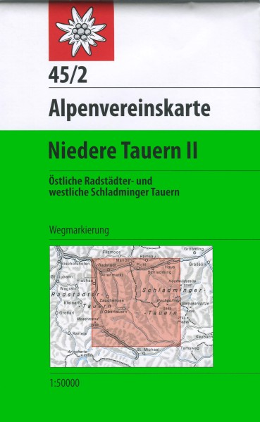 DAV Alpenvereinskarte 45/2 Niedere Tauern II, Wanderkarte 1:50.000