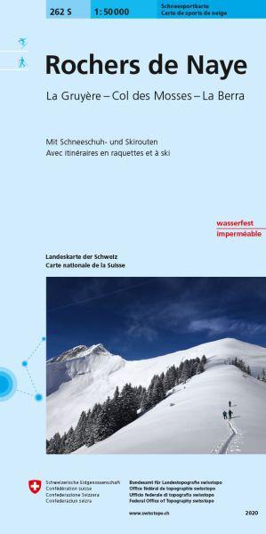 262 S Rochers de Naye topographische Skitourenkarte 1:50.000