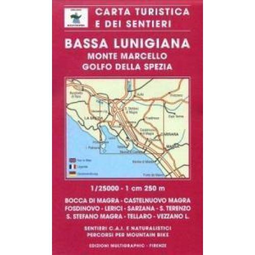 Edition Multigraphic, Bassa Lunigiana Blatt 508, Ligurien, 1:25.000