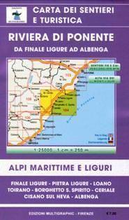 Riviera di Ponente Wanderkarte 1:25.000; Edizioni Multigraphic 104; Ceriale