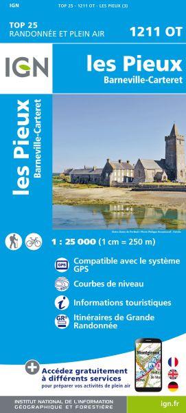 IGN 1211 OT Les Pieux, Barneville-Carteret, Frankreich Wanderkarte 1:25.000