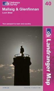 Landranger 40 Mallaig & Glenfinnan, Loch Shiel, Großbritannien Wanderkarte 1:50.000