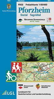 Pforzheim Freizeitkarte in 1:50.000 – F502 mit Rad- und Wanderwegen