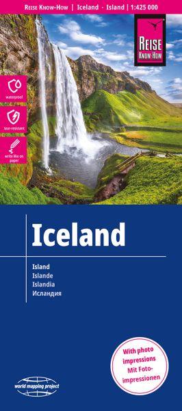 Island Landkarte 1:425.000, Reise Know-How