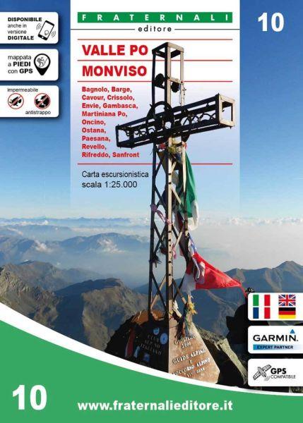 Piemont Wanderkarte: Valle Po, Monviso, Fraternali 10