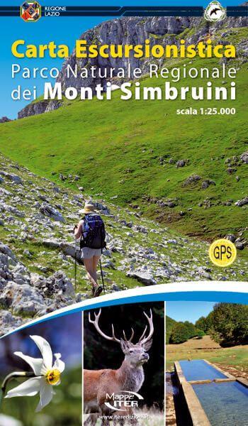 Parco Naturale Regionale die Monti Simbruini Wanderkarte 1:25.000