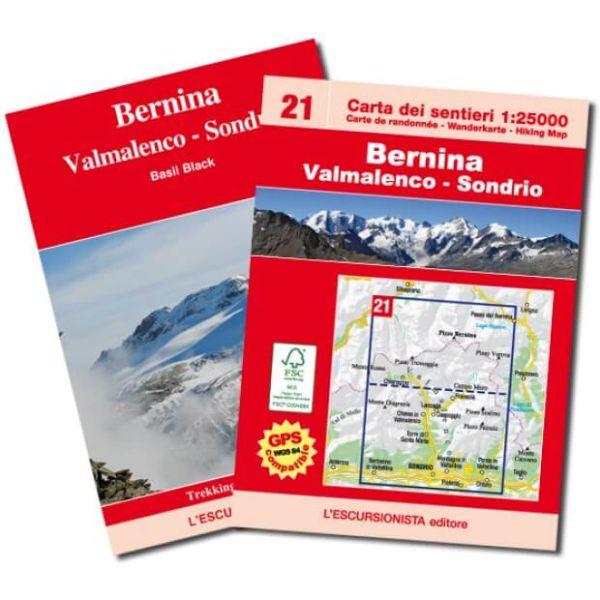 Bernina - Valmalenco - Sondrio Wanderkarte 1:25.000, L'Escursionista editore Bl. 21