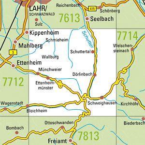 7713 SCHUTTERTAL topographische Karte 1:25.000 Baden-Württemberg, TK25