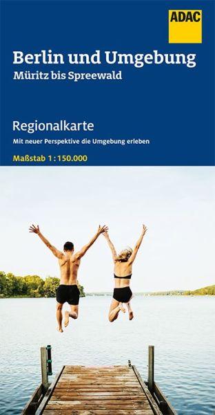 Bl. 6Berlin und Umgebung Regionalkarte 1:150.000, ADAC Straßenkarte