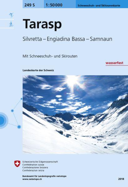 249 S Tarasp, topographische Skitourenkarte 1:50.000