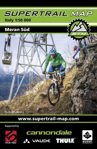 Supertrail Map Meran Süd Mountainbike-Karte 1:50.000, Wasser- und reissfest (STM)