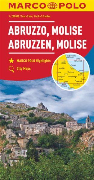 Abruzzen Straßenkarte 1:200.000, Marco Polo Italien Blatt 10