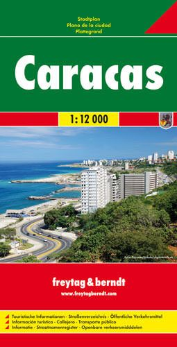 Caracas, Stadtplan 1:12.000, Freytag und Berndt