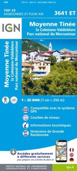 IGN 3641 ET Moyenne Tinee, La Colmiane Frankreich Wanderkarte 1:25.000