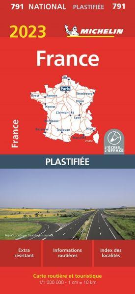 Michelin 791 laminierte Karte von Frankreich 1:1.000.000