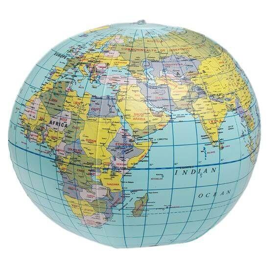 Rex - Aufblasbarer Globus 26 cm Durchmesser