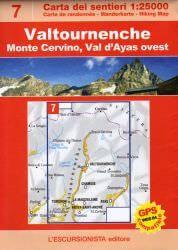 Valtournenche topographische Wanderkarte 1:25.000 L'Escursionista editore Bl.7