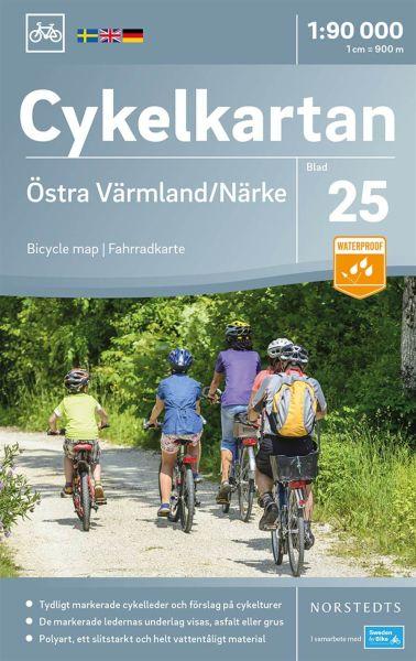 Östliches Värmland/Närke, 1:90.000, Radkarte Schweden, Norstedts