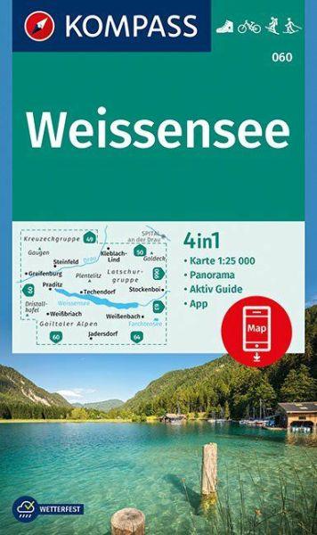 Kompass Karte 060, Weissensee 1:25.000, Wandern, Rad fahren