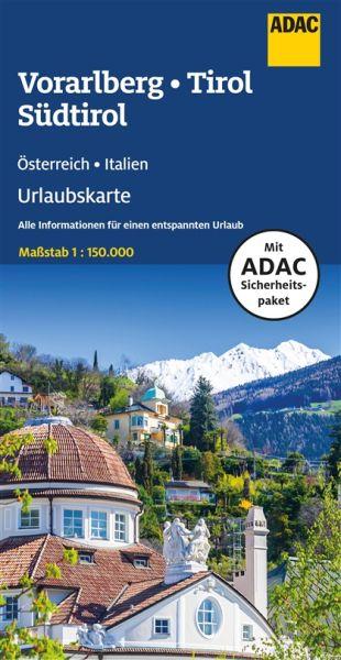 Vorarlberg, Tirol & Südtirol Urlaubskarte 1:150.000 vom ADAC - Österreich Bl. 6