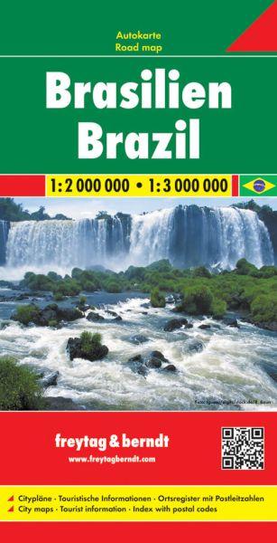 Brasilien, Straßenkarte 1:2.000.000, Freytag und Berndt