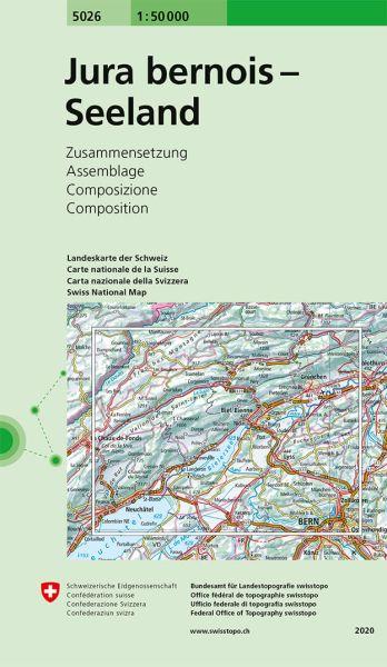 5026 Jura bernois - Seeland topographische Karte Schweiz 1:50.000