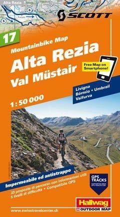 Hallwag Mountainbike Map Bl.17, Alta Rezia, Val Müstair, 1:50.000, Wasser- und reißfest