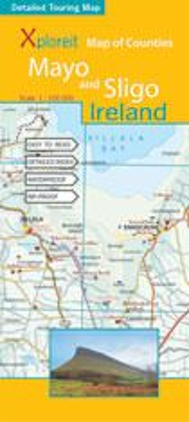Map of County: Mayo & Sligo, Irland topographische Karte 1:100.000, Xploreit Maps