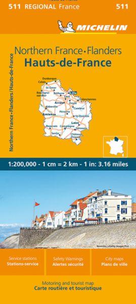 Michelin regional 511 Nordfrankreich - Flandern Straßenkarte 1:200.000