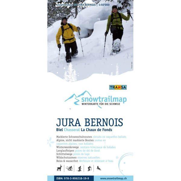 Snow Trail Map 28, Jura Bernois 1:50.000 – Schneeschuhwander-Karte