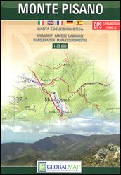 Toskana Wanderkarte: Monte Pisano topographische Wanderkarte 1:25.000