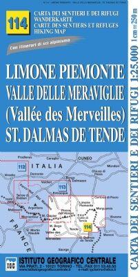 IGC 114 - Wanderkarte für Limone Piemonte - Valle delle Meraviglie - St. Dalmas de Tende 1:25.000