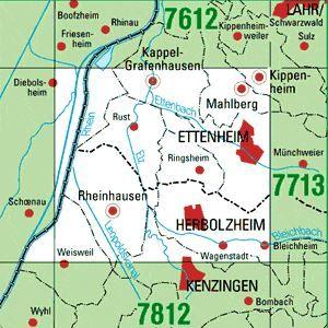7711/7712 ETTENHEIM topographische Karte 1:25.000 Baden-Württemberg, TK25