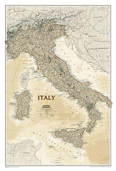 NGS Poster Italien Landkarte Antik 60 cm x 86 cm