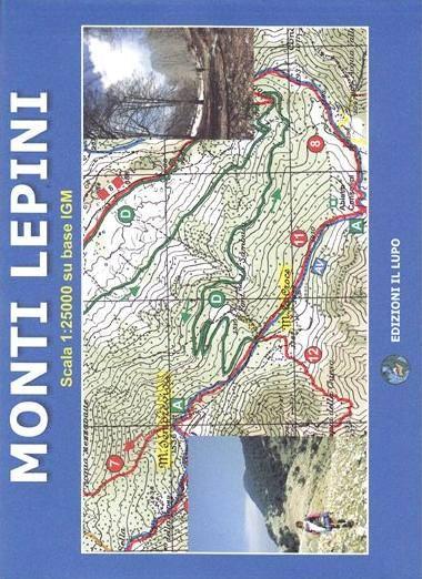 Wanderkarte für Monti Lepini 1:25.000 - Il Lupo Nr. 6