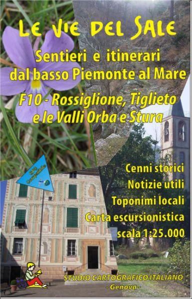 Ligurien Wanderkarte: F.10 Rossiglione, Tiglieto e la Valli Orba e Stura 1:25.000