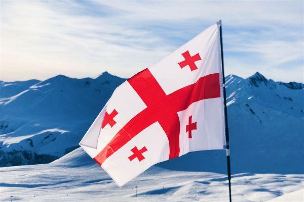 Georgische-Flagge