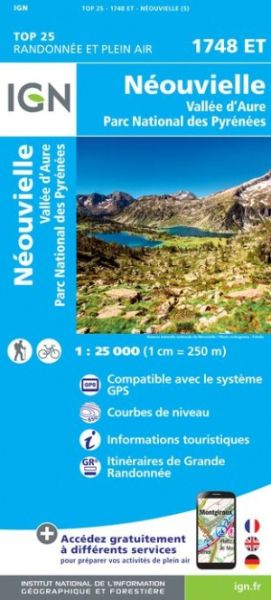 IGN 1748 ET Neouvielle, Vallee d'Aure, Frankreich Wanderkarte 1:25.000