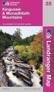 Landranger 35 Kingussie & Monadhliath Mountains, Großbritannien Wanderkarte 1:50.000