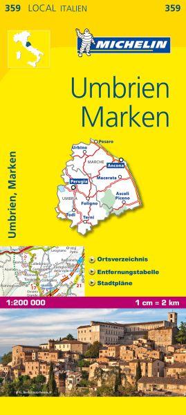 Michelin 359 Umbrien, Marken Straßenkarte 1:200.000