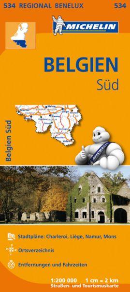 Michelin 534 Belgien Süd, Ardennen Straßenkarte