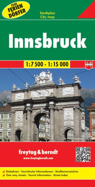Innsbruck, Stadtplan 1:7.500 / 1:15.000, Freytag und Berndt