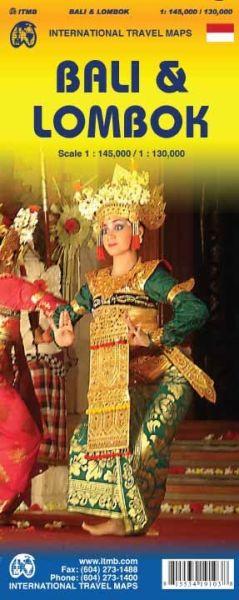 Bali 1:145.000 & Lombok 1:130.000 Landkarte, ITM