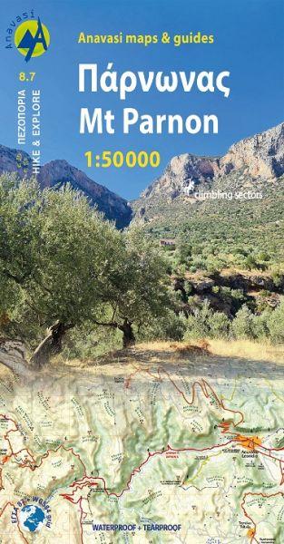 Parnon (Peloponnes) Wanderkarte 1:50.000, Anavasi 8.7, Griechenland, wetterfest