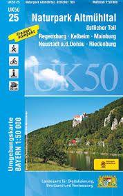 UK50-25 Naturpark Altmühltal Ost Rad- und Wanderkarte 1:50.000 - Umgebungskarte Bayern