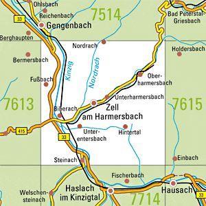7614 ZELL A.HARMERSBACH topographische Karte 1:25.000 Baden-Württemberg, TK25