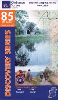 OSI 85 Cork, Kerry Wanderkarte 1:50.000 - Ordnance Survey Ireland