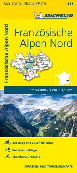 Michelin local 333 Französische Alpen Nord Straßenkarte 1:150.000
