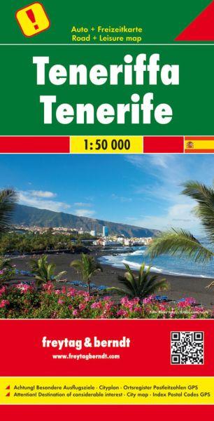 Teneriffa, Straßenkarte 1:50.000, Freytag und Berndt